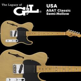 G&L USA ASAT Classic Semi-Hollow バタースコッチブロンド